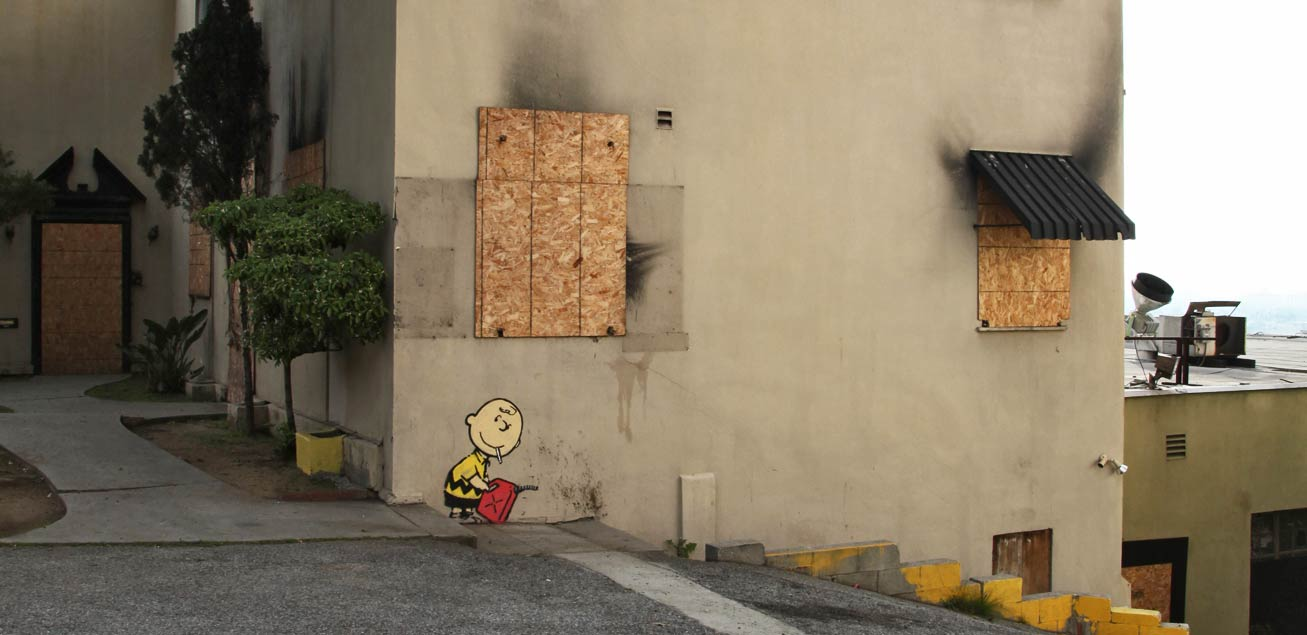 banksy - street art - graffiti - los angeles - charlie burn