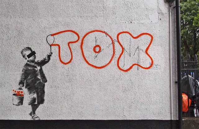 banksy - street art - graffiti - londres - tox