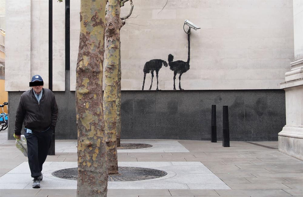 banksy - street art - graffiti - london - national gallery