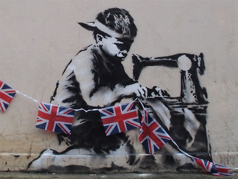 banksy - street art - graffiti - london - olympic games