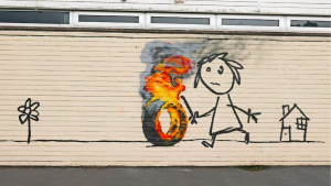 banksy - street art - graffiti - bristol - primary school