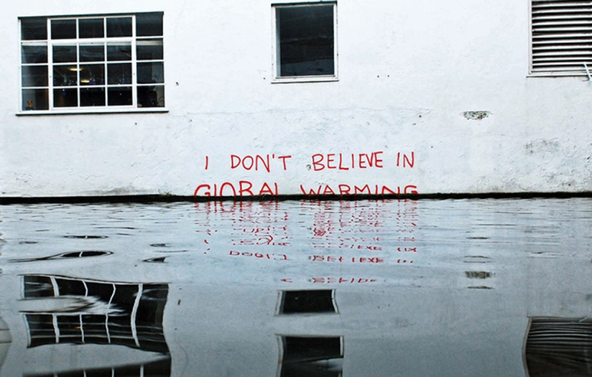 banksy - street art - global warming - london