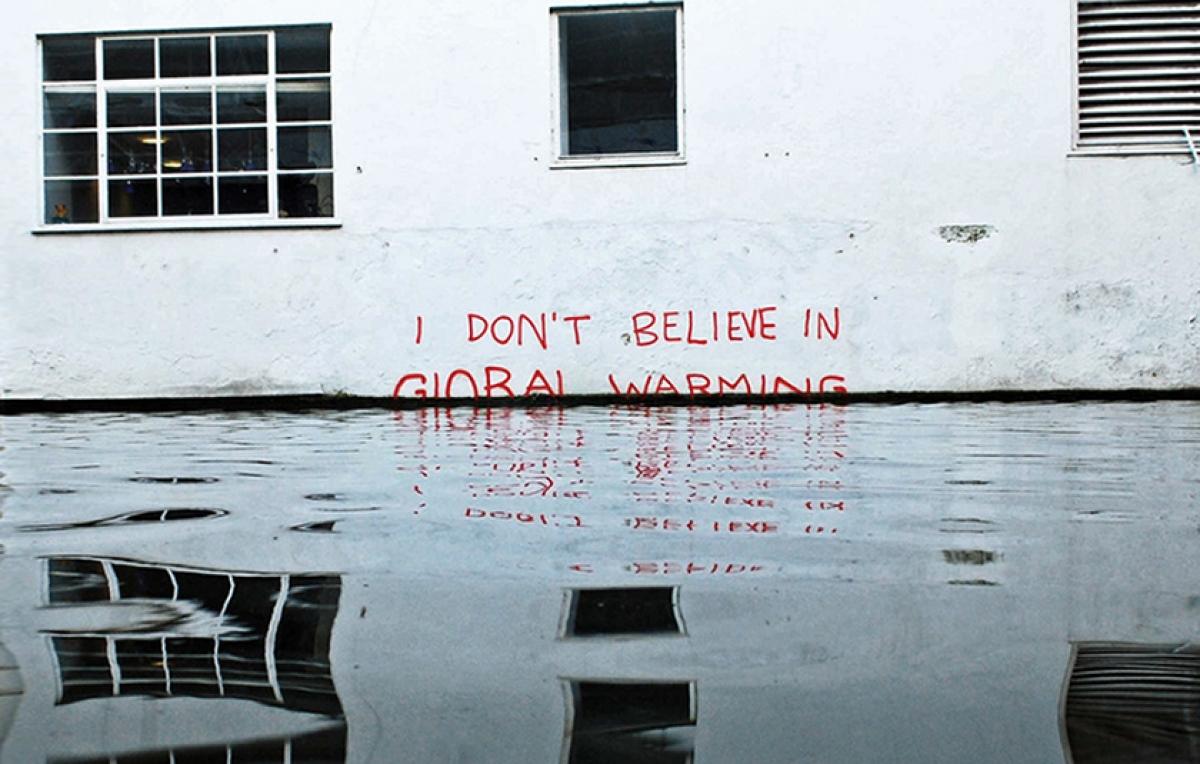 banksy - street art - global warming - london