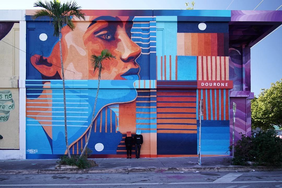 dourone - street art - basel house - miami - wynwood - usa