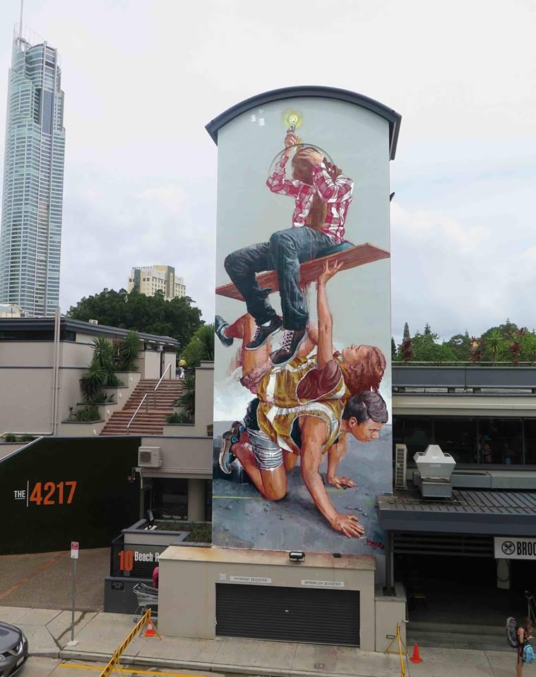 fintan magee - street art - gold coast - australie