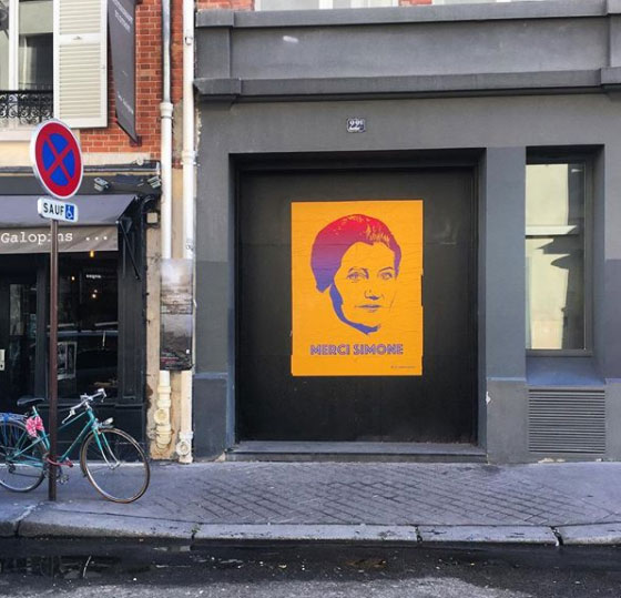 merci simone - street art - affiche - orange