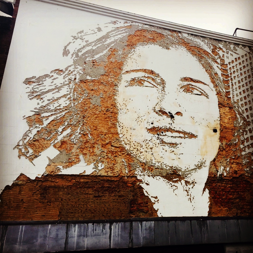 vhils - street art - exeter - devon