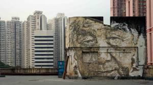 vhils - street art - hong kong