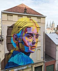dourone - street art - opia - the crystal ship - ostende - belgium