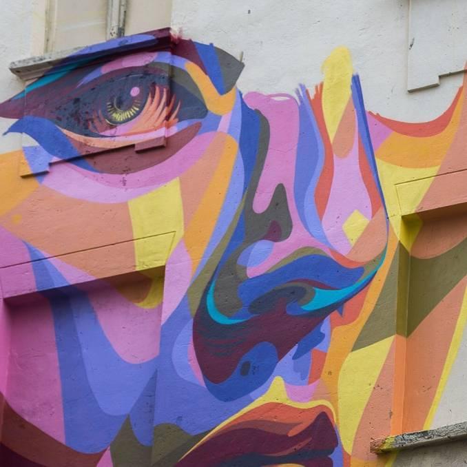 dourone - street art - opia - the crystal ship - ostende - belgium