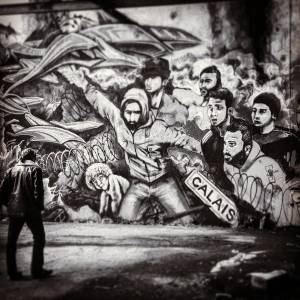 jef - street art - mosaic street art avenue - black and white - lorient