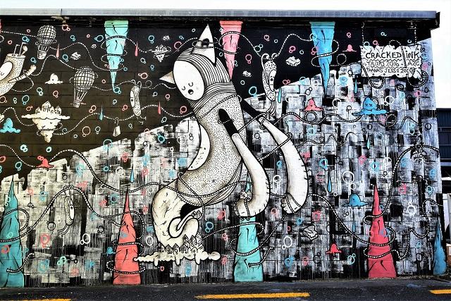 cracked ink - street art - taupo