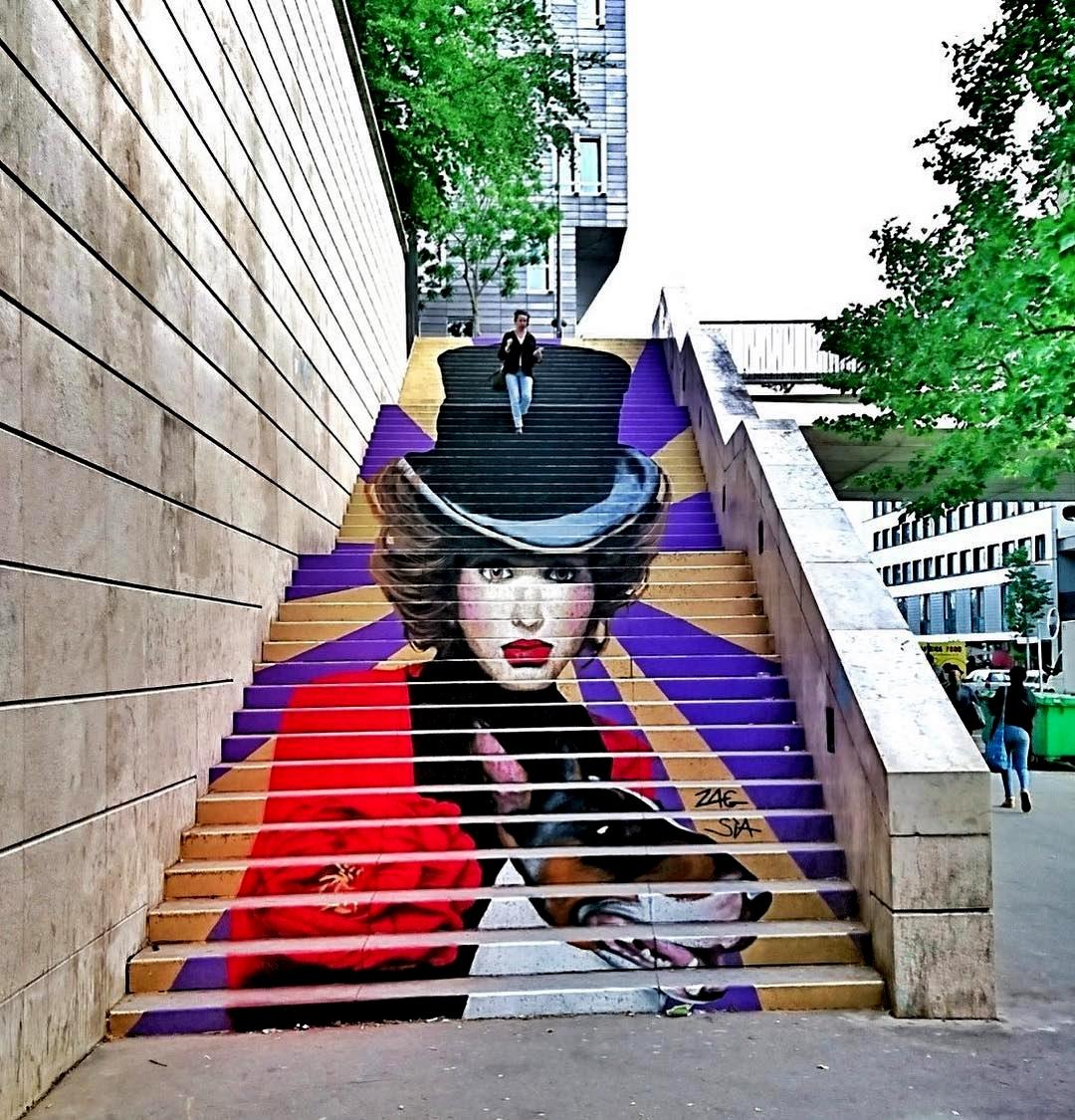 Perspective Escalier : Zag sìa « la nouvelle parisienne xiii paris