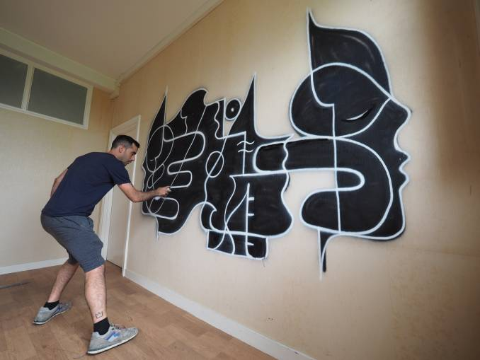 goddog - street art avenue - dedale - flop - vannes