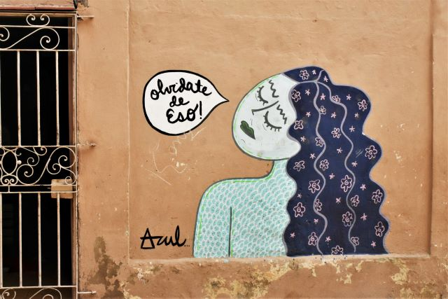 azul - street art -la havane