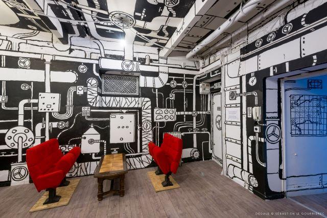 hubert poireau bourdin - street art avenue - dedale - vannes