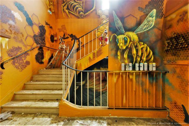 kaz - ezra - street art avenue - dedale - vannes