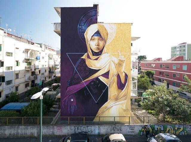 street art avenue - naples - italie