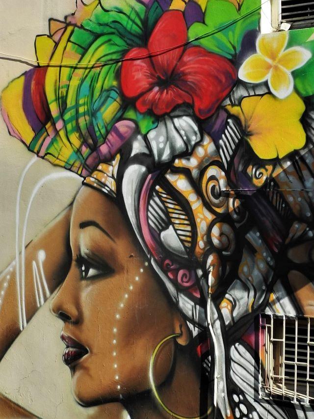 xan - street art avenue - sainte anne - martinique