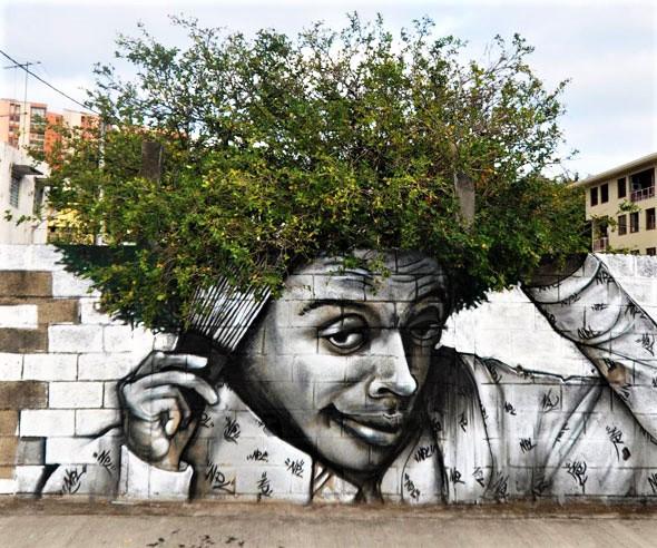 xan - street art avenue - fort de france - martinique