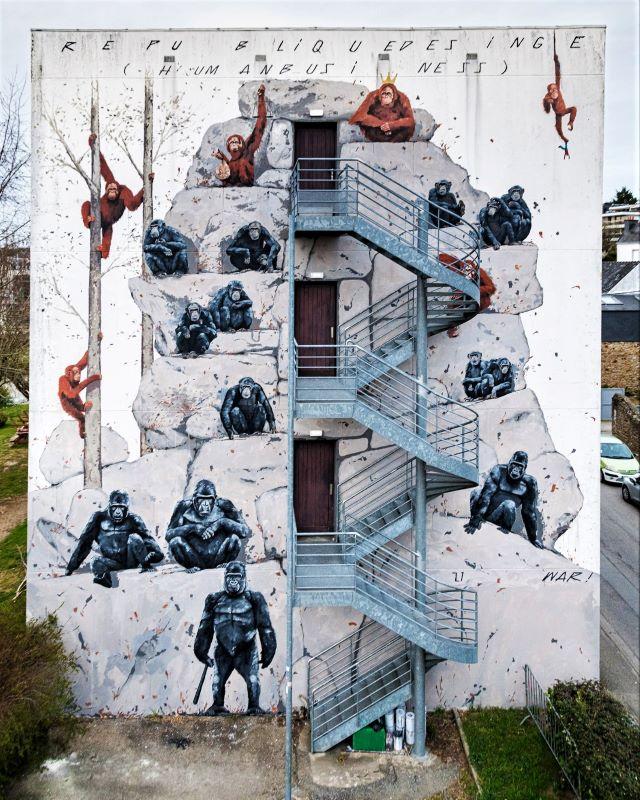 war - street art avenue - dédale - vannes