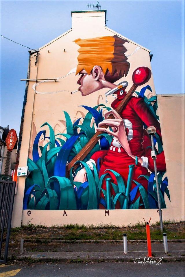 gamo - street art avenue - st brieuc - france