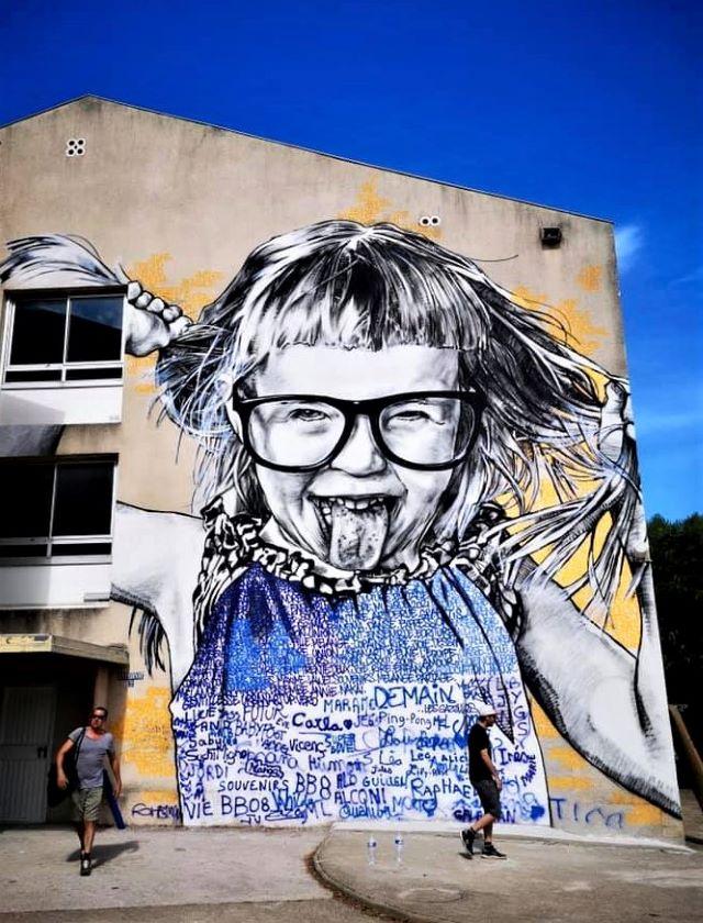 dire - street art avenue - elne - france